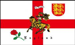 3ft x 2ft St Georges Cross Charger Cross of St. George England Flag - 100 Denier